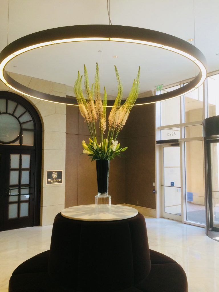Eremurus vase in foyer